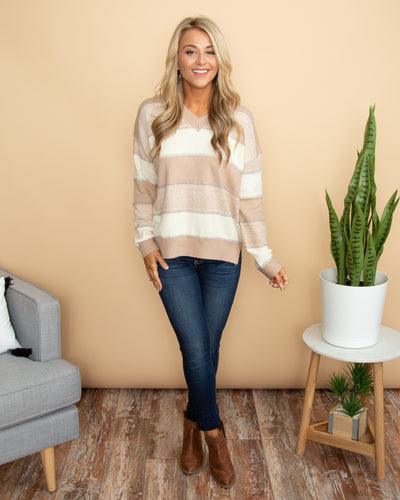 Classically Cozy Sweater - Champagne
