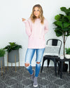 Cloudy Afternoon Hoodie - Light Pink