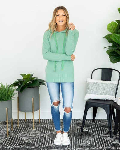 Cloudy Afternoon Hoodie - Spearmint