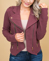 Cocktails In The City Moto Jacket - Wine