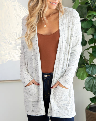 Collect My Thoughts Cardigan - Heather Ivory