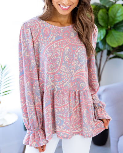 Collecting My Thoughts Top - Paisley Pink