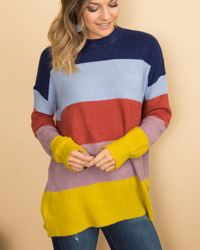 Color Me Cozy Sweater - Navy