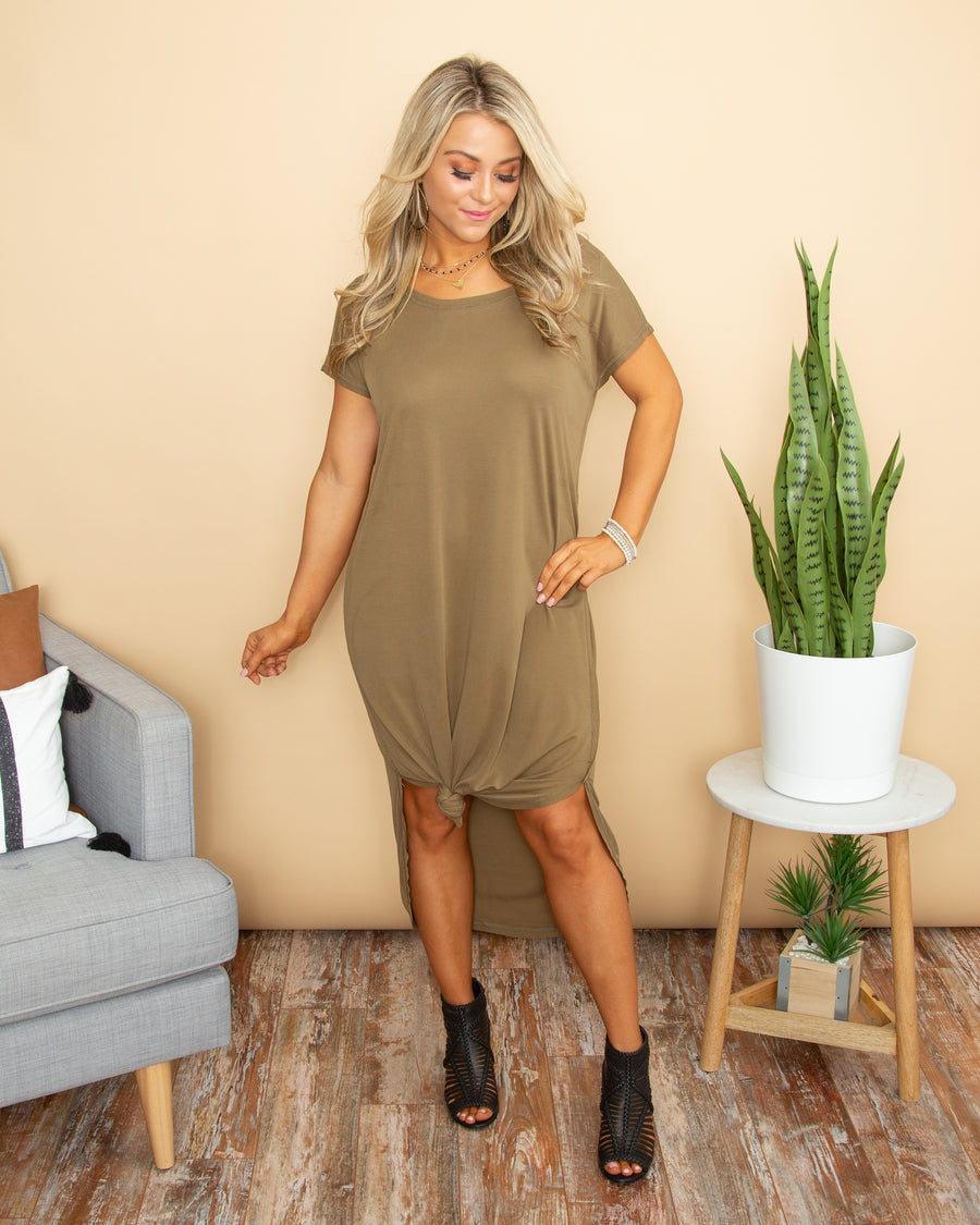Come As You Are Dress - Olive