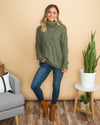 Comfort Is Key Sweater - Olive