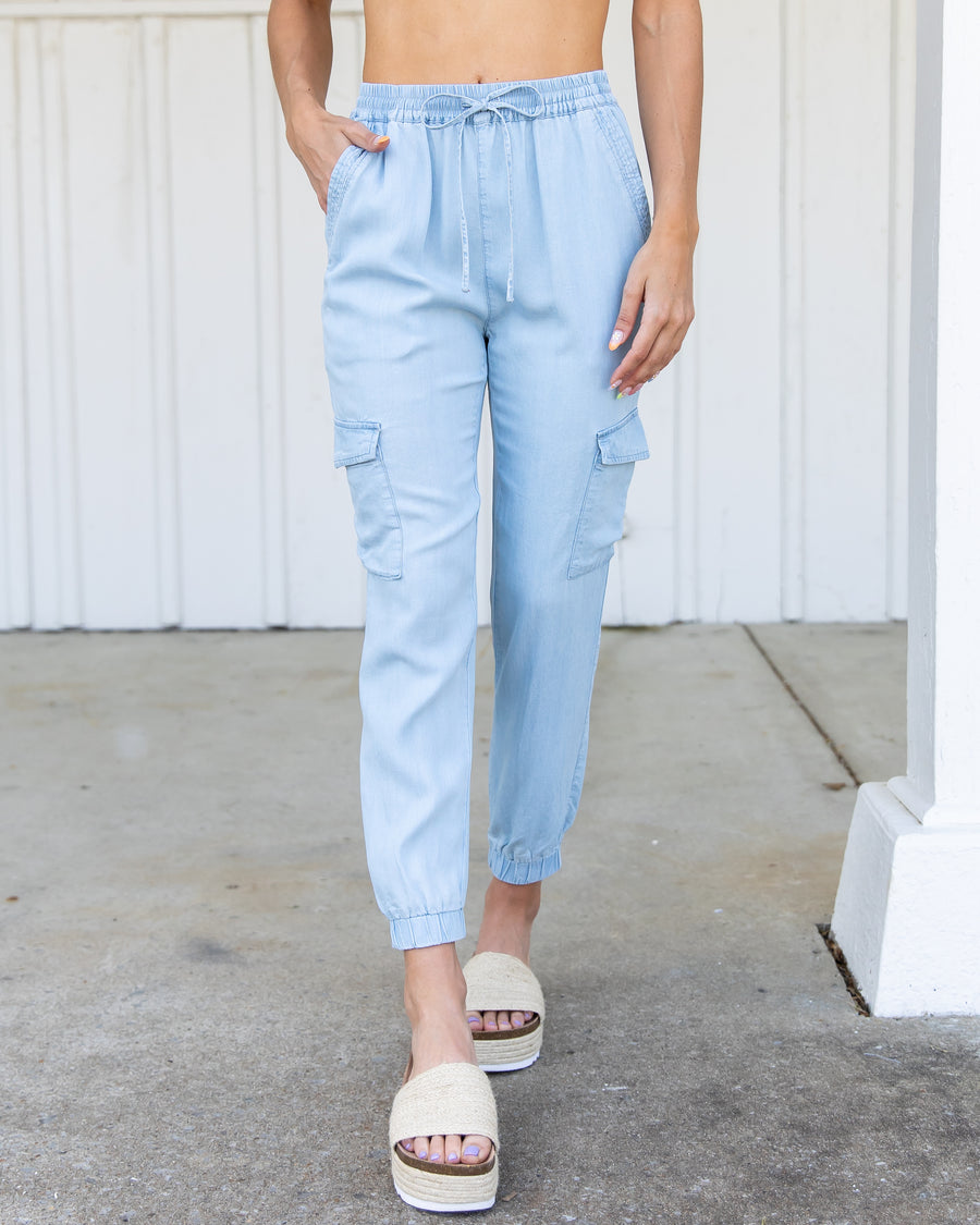 Cool For The Summer Joggers - Chambray