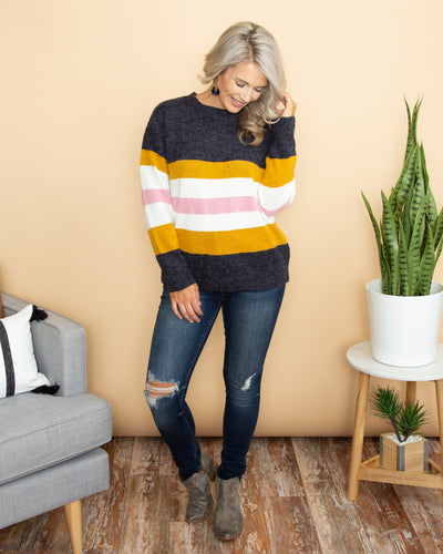 Count The Ways Sweater - Navy