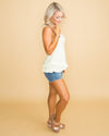 Courtney Ruffle Tank - Cream