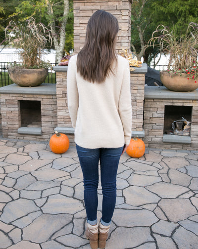 Cozy By The Fireplace Sweater - Cream