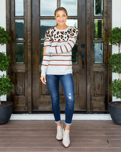 Craving Adventure Sweater - Heather Grey