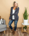 Cross My Path Cardigan - Dark Navy