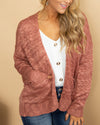 Cross My Path Cardigan - Mauve