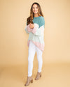 Cruise To Cali Color-Block Popcorn Knit Sweater - Sage Multi