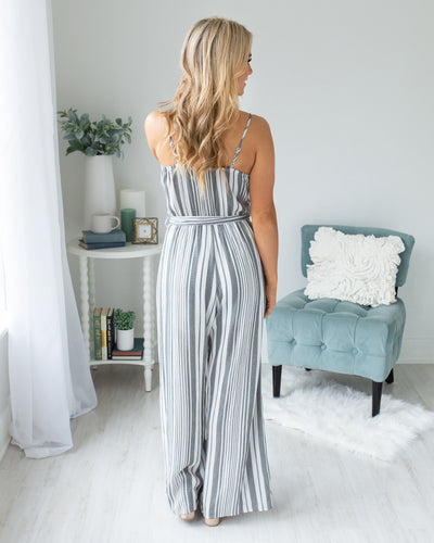 Cruising The Coast Jumpsuit - Charcoal