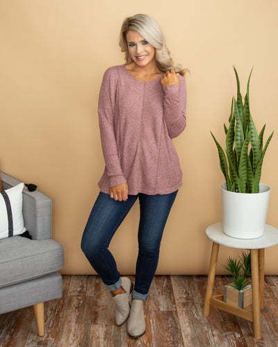 Cue The Comfy Top - Mauve