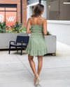 Dancing At Sunset Dress - Olive