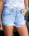 Darcy Distressed Shorts - Light Wash