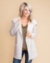 Date Night In Denver Faux Shearling Cardigan - Cream