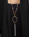 Desert Tassel Necklace - Gold/Black