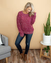 Destined For Beauty Knit Sweater - Wine