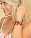 Devyn 5 Piece Bracelet - Brown/Gold