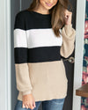 Don't Go Far Sweater - Black Multi