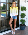 Don't Overthink It Sweater - Yellow Ombre
