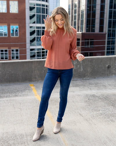Drawing Attention Top - Terracotta