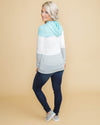 Dream Of Comfort Color-Block Hoodie - Aqua
