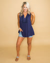 Dreaming Of Date Night Top - Navy