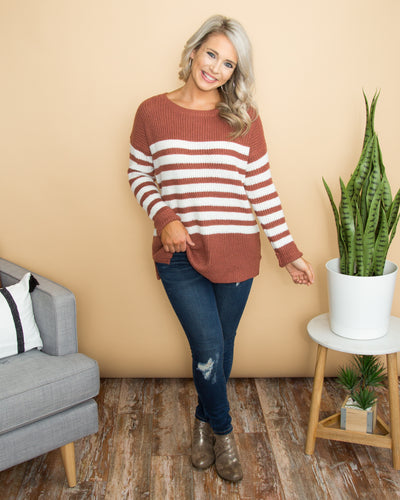 Dreamy Afternoon Sweater - Marsala