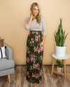 Dreamy Days Maxi Dress - Olive