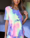 Early Mornings Tie Dye Top - Multi