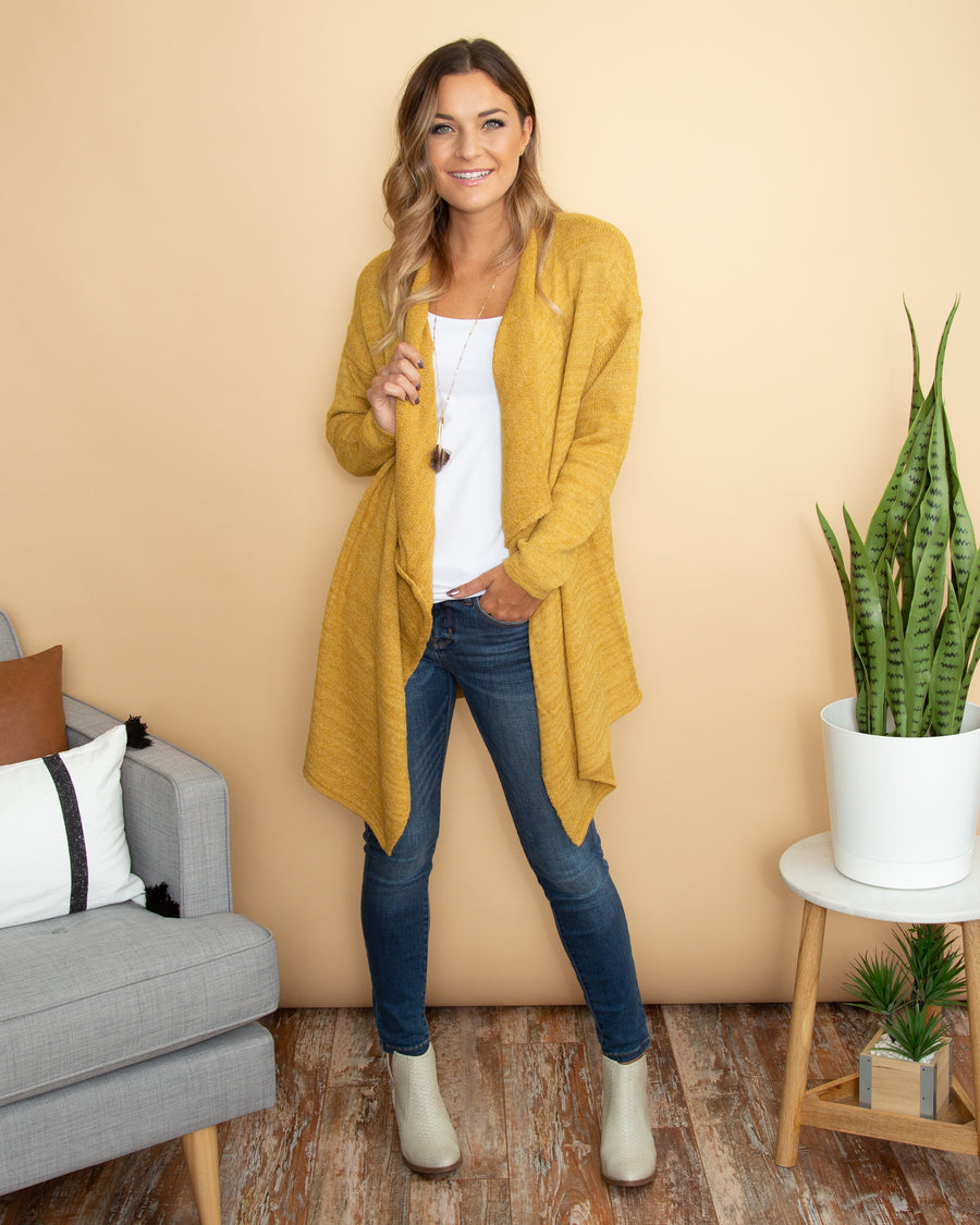 Early Mornings Cardigan - Mustard