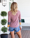 Easy To Adore Top - Dusty Mauve