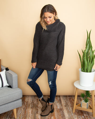 Easy Like Sunday Sweater - Charcoal