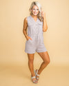 Effortless Love Stripe Romper - Taupe