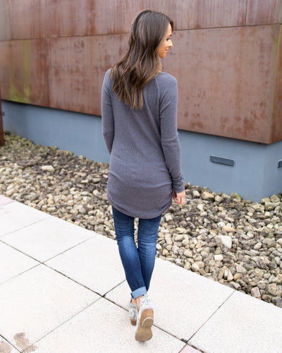Elle Everyday Top - Slate Grey