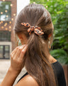 Elliott Leopard Hair Scrunchie - Latte