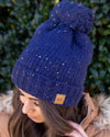 Embrace The Cold Confetti Beanie - Navy