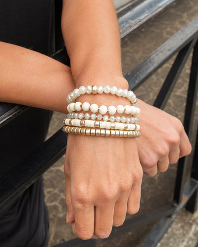 Emmy Stackable Bracelet - Cream