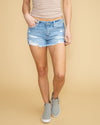 Ensley Distressed Short - Light Wash