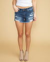 Ensley Distressed Short - Medium Wash
