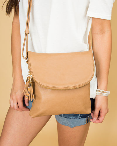 Evelyn Cross-Body Bag - Tan