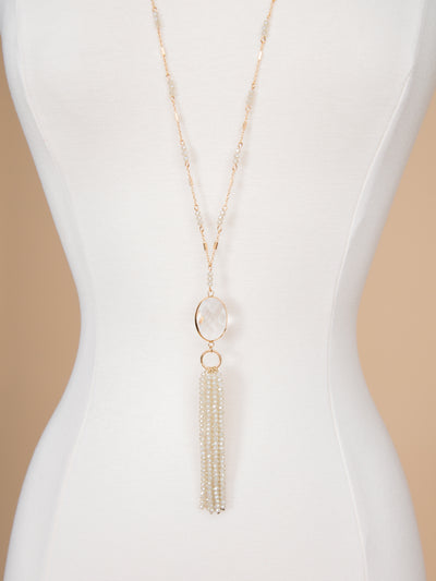 Everlee Tassel Necklace - Ivory