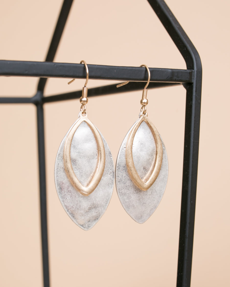 Everly Leaf Earrings - Silver