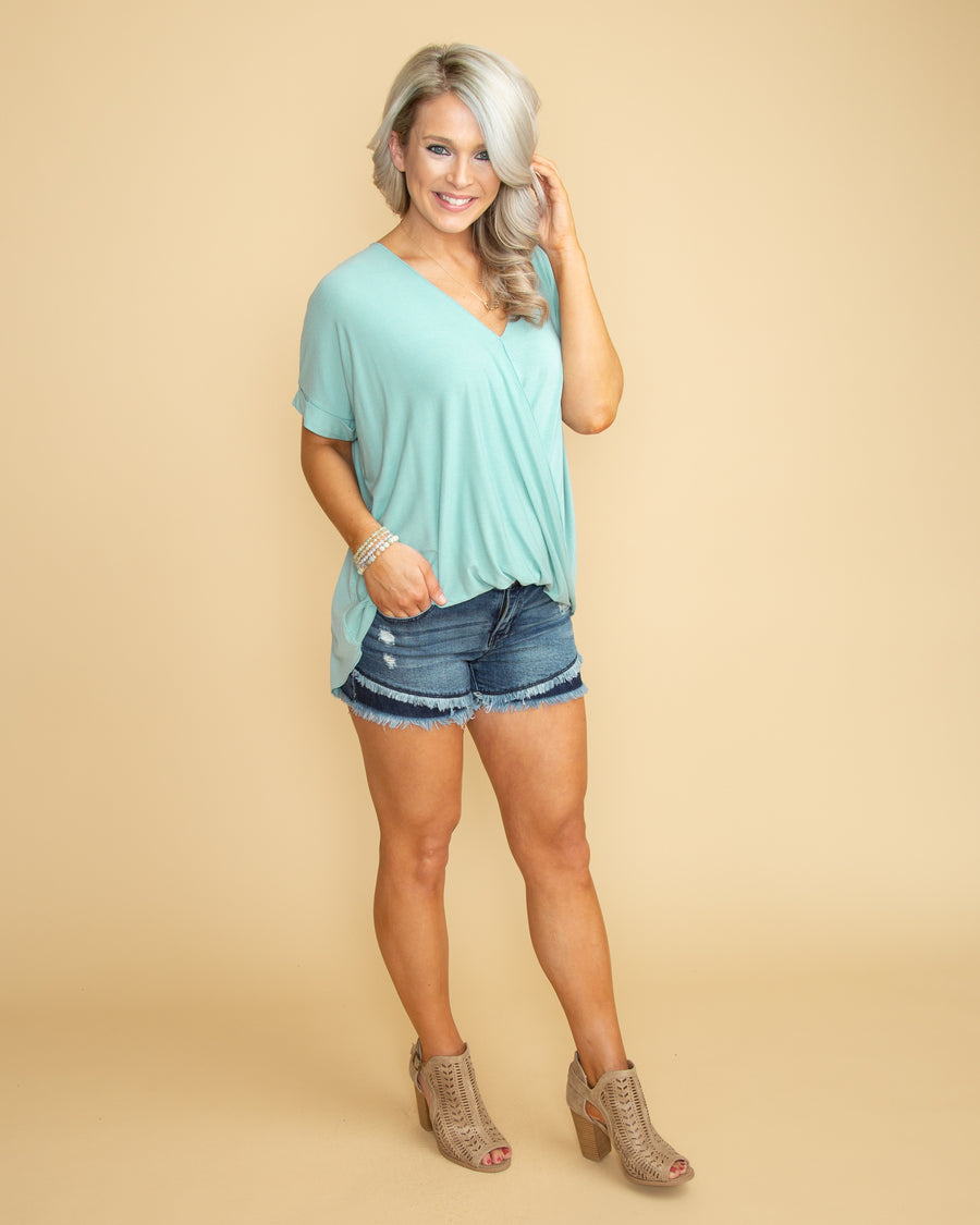 Fairytale Bliss Crossover Top - Mint