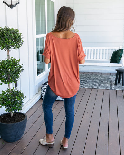 Fairytale Bliss Crossover Top - Terracotta