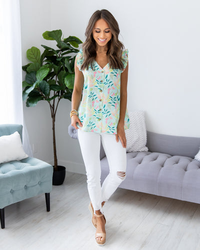 Faithful To Me Top - Mint