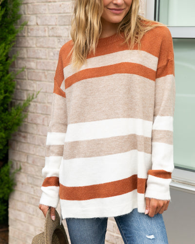 Fall Getaway Sweater - Burnt Orange